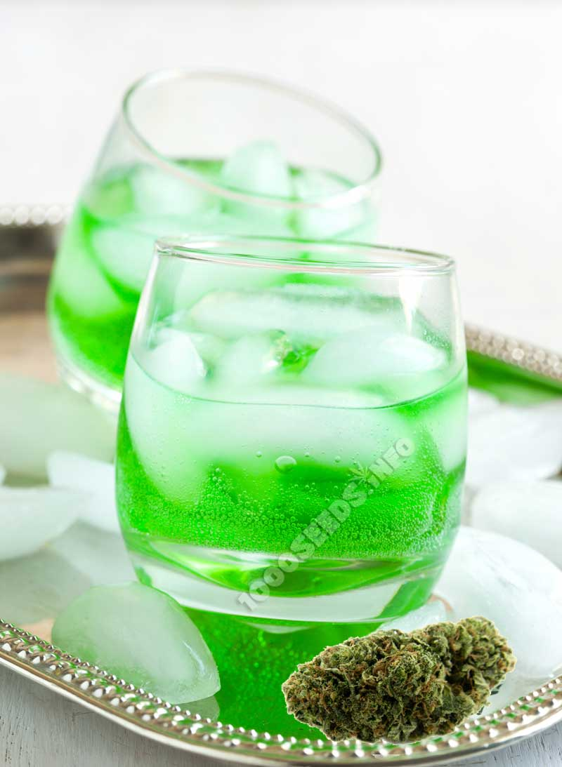green-dragon, Cocktails mit Cannabis, Cannabis und Alkohol