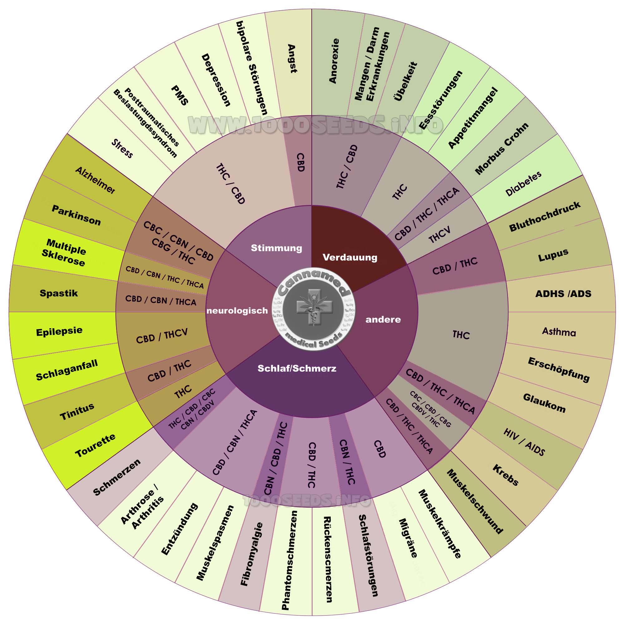 Cannabinoide bei verschiedenen Erkrankungen
