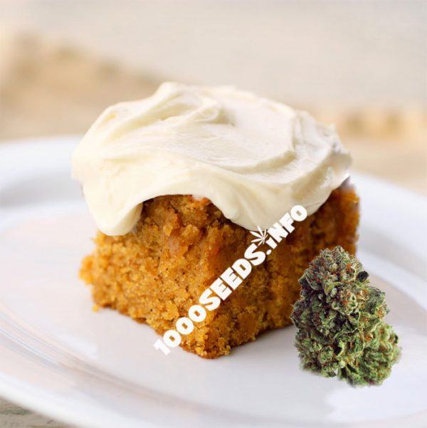 Pumpkin-Cannabis, Cannabis-Kuchen, backen mit Weed