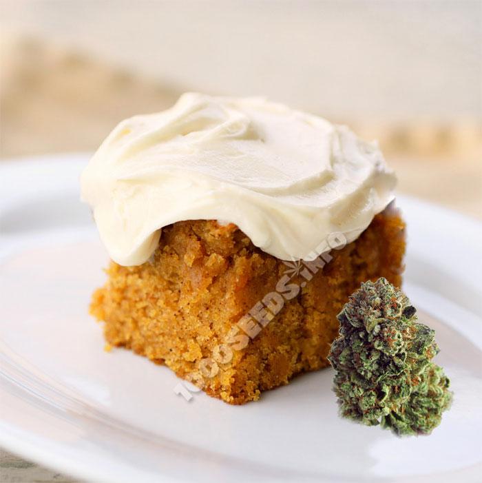 Pumpkin-Cannabis, Cannabis-Kuchen, backen mit Weed