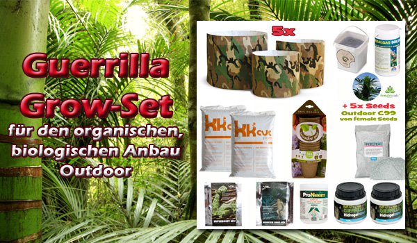 Guerilla Outdoor-Set, 1000Seeds Growshop