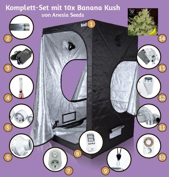 """Komplett-Set """"Banana Kush"""", 120x120x200cm, 600W"""