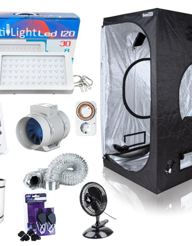 LED-Komplettset 80 x 80 x 160cm, 120W
