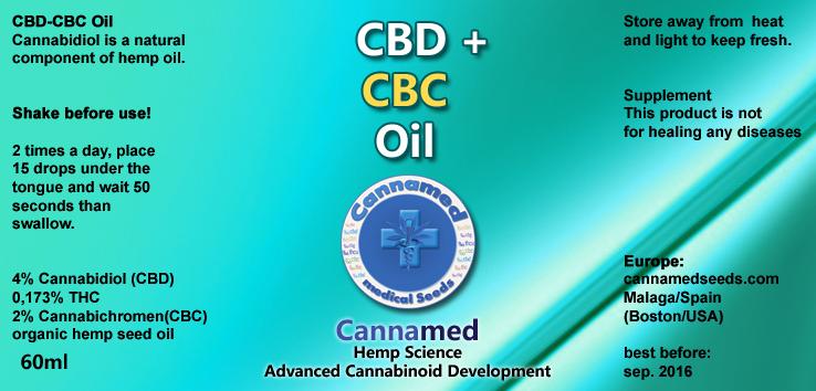 CBD-CBC-Oil, 10ml oder 3 x 10ml