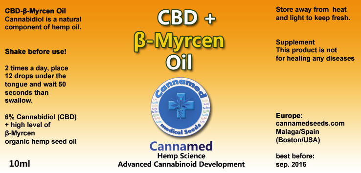 CBD + β-Myrcen-Oil, 10ml oder 3 x 10ml