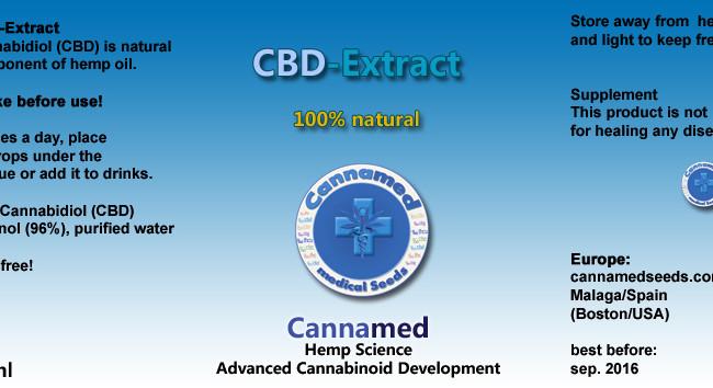 CBD Extrakt, 10ml oder 3 x 10ml (auf Ethanolbasis)