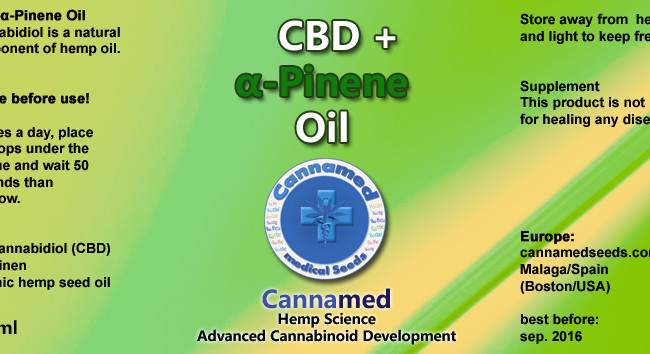 CBD + α-Pinene Oil, 10ml oder 3 x 10ml