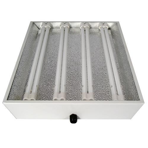 CFL-Armatur für 4 x 55W, inkl Leuchtmittel Wuchs