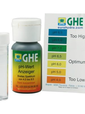 GHE pH-Test-Kit mit Farbskala, Messbereich pH 4,0 - ph 8,5, 30 ml