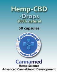 Hemp-CBD-Drops, 50 Kapseln