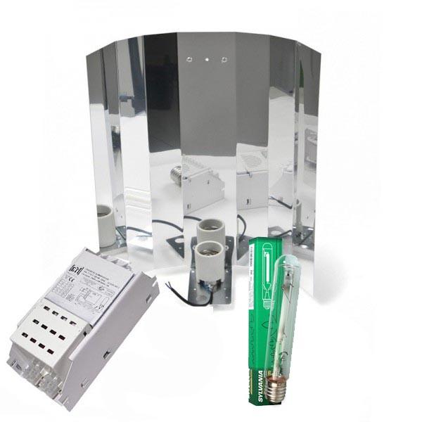 Kit 600W + Leuchtmittel Sylvania, Komplettset, lose (Bloom oder Dual)