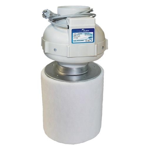 Prima Klima Kit, PK Rohrventilator ø125mm, 360 m³/h + PK-Carbon-Aktivkohlefilter