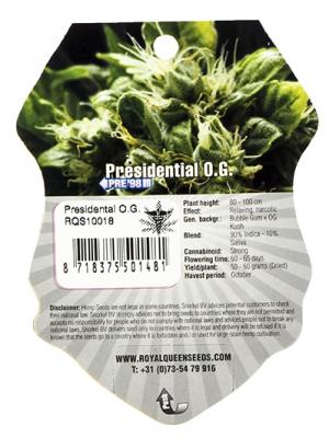 Presidential O.G. (Royal Queen Seeds), 5 feminisierte Samen