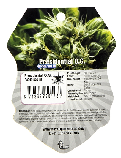 Presidential O.G. (Royal Queen Seeds), 5 feminisierte Samen