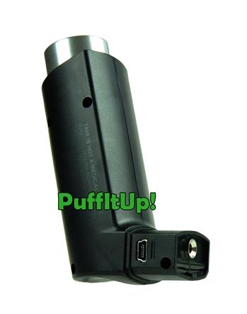 Vaporizer PuffiT von Discreet Vape, kabelloser Vaporizer im Taschenformat, schwarz