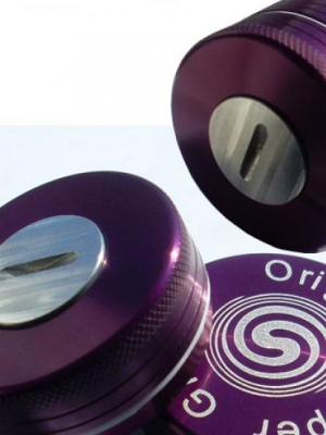 PushUp-Grinder aus Aluminium, ø 50 mm, violett