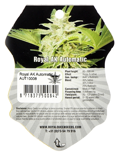 Royal AK Automatic (Royal Queen Seeds), 3 autoflowering Samen