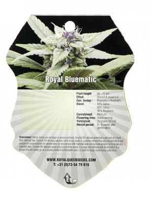 Royal Bluematic Royal Queen Seeds 5 Autoflowering Samen 1000seeds