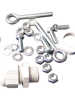 Schraubensatz mit Kabelverschraubung, M4