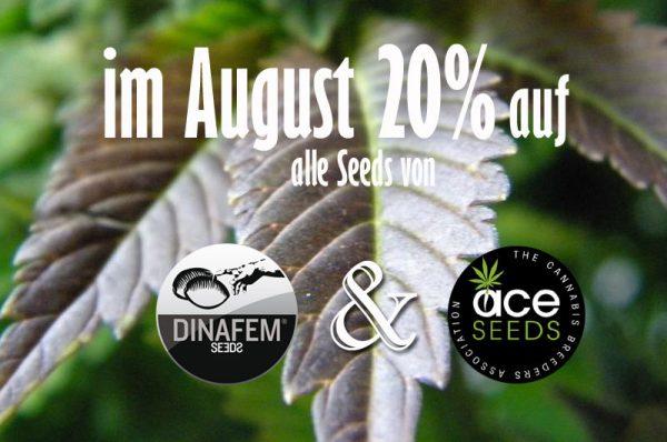 Seedbank-Prozente-August, Seedshop 1000Seeds