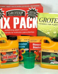 Six Pack von Grotek, Koplettdünge-Set für die gesamte Blüte