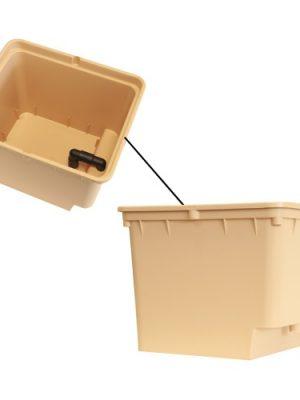Topf, viereckig, inkl. 2 Entwässerungsrohren, für Dutch Pot Systeme