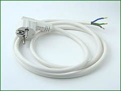 Netzstecker mit flexiblem Feuchtraumkabel 1,5 mm², L=1,5m
