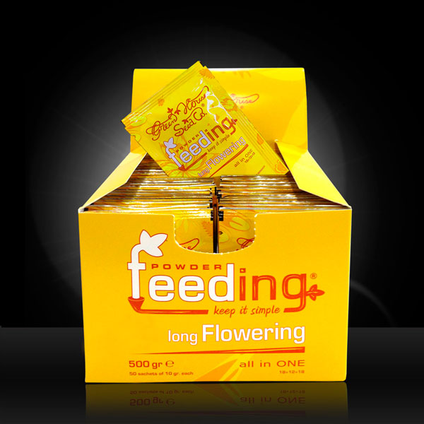 Green House Powder Feeding - long Flowering, 50 Beutel á 10g