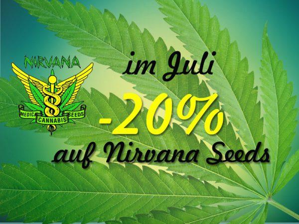 20 Prozent auf Nirvana Seeds