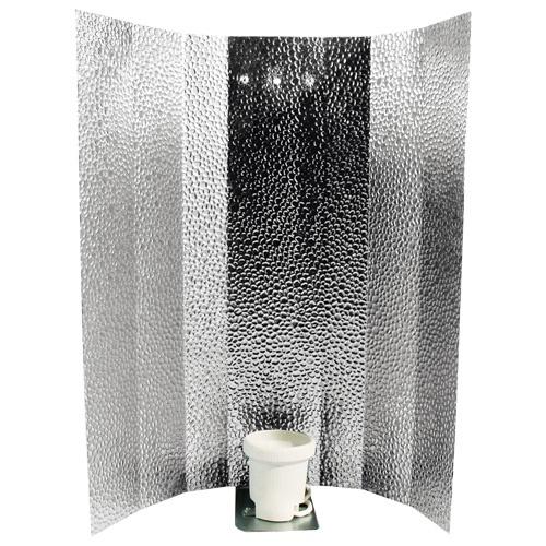 Reflektor, Hammerschlag glänzend, 47 x 47 cm, Bügel, Fassung, Lüsterklemme