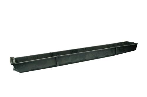 Steinwollkasten Librabak, mit Entwässerungsloch, Innenmaße 133 x 15 x 7,5 cm