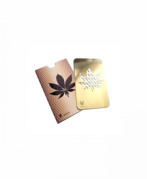 Grinder-card,-Leaf-gold