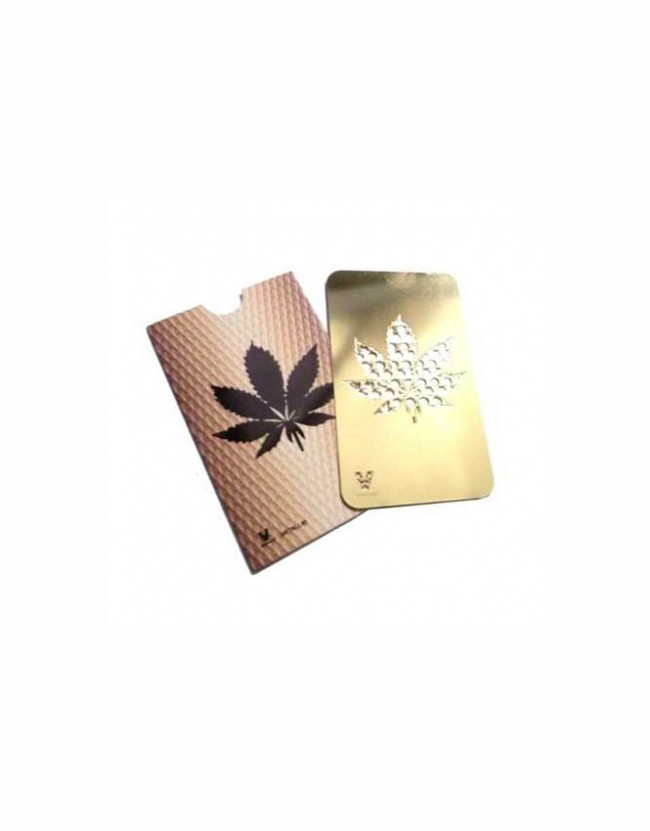 Grinder-card,-Leaf-gold