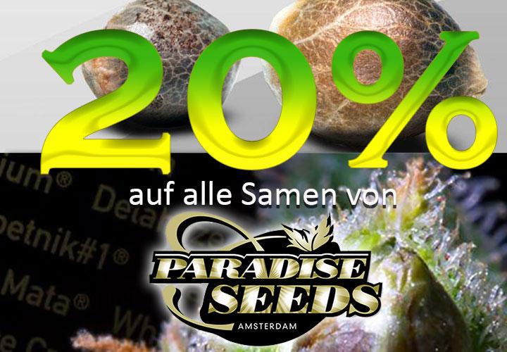Prozente auf Paradise Seeds