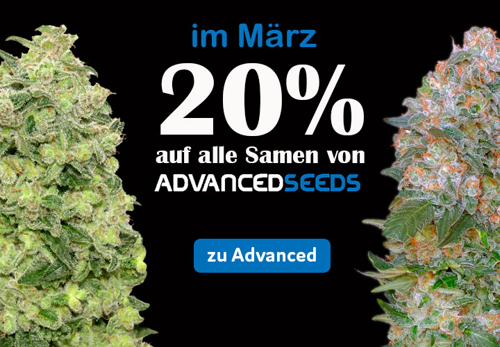 auf alle Advanced Seeds 20% im März