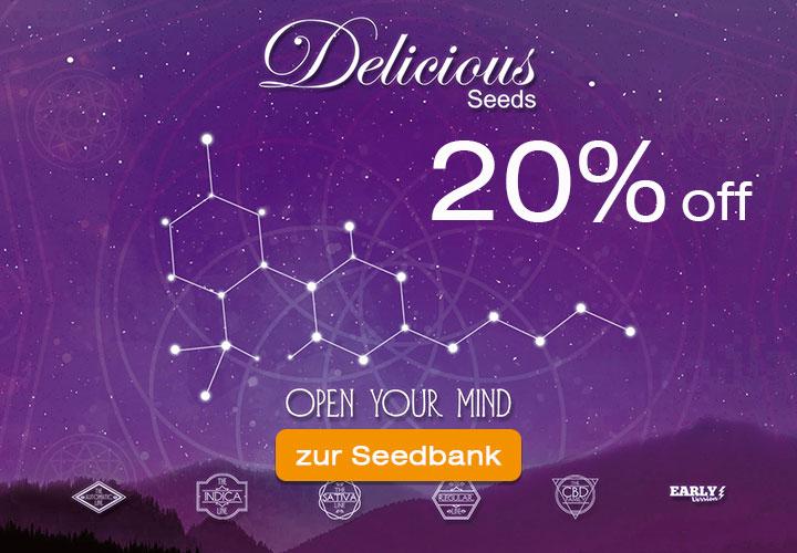 20% auf alle Samen von Delicious Seeds