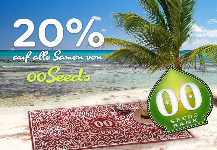 20 Prozent auf alle Cannabissamen von 00 Seeds