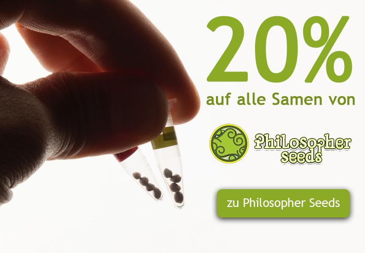20% auf alle Cannabis Samen von Philosopher Seeds Seeds