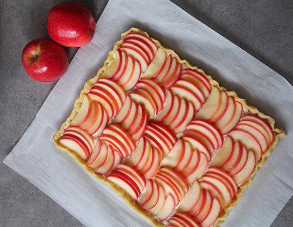 Cannabis-Apfelkuchen