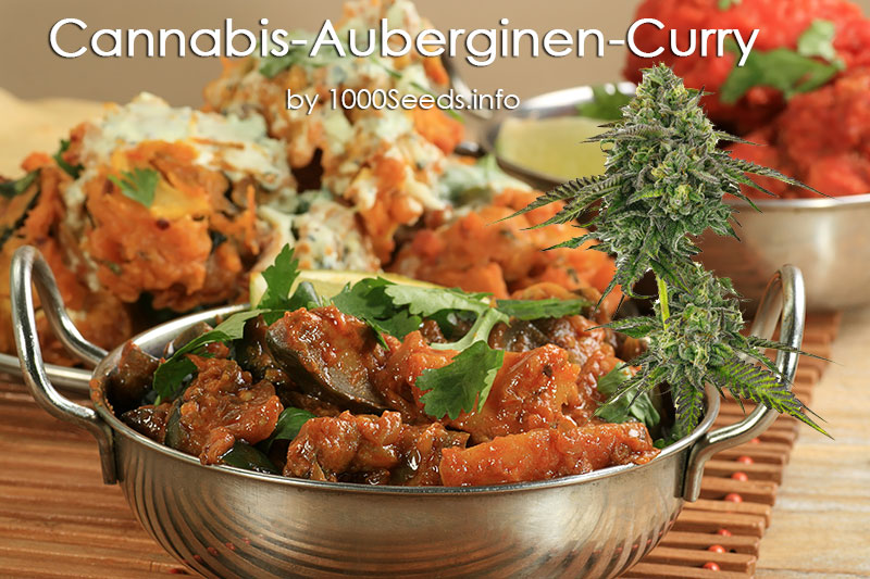 Cannabis-auberginen-Curry