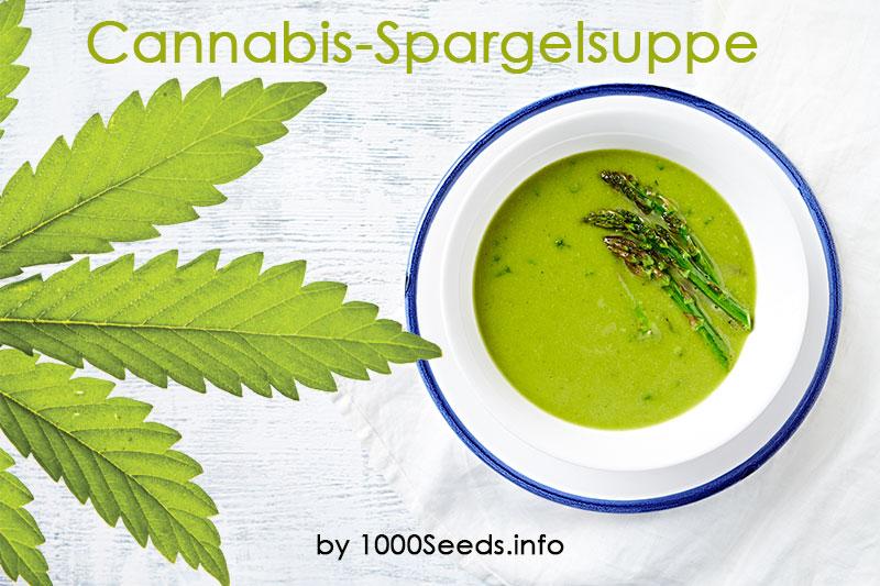 Cannabis-spargelsuppe