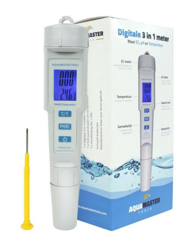 Multimeter für pH, eC und Temperatur